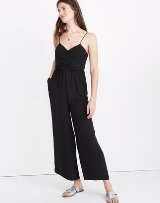 Madewell Tall Ruched Wide-Leg Jumpsuit
