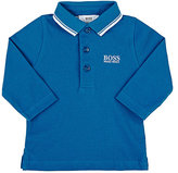 HUGO BOSS LOGO-EMBROIDERED COTTON POLO SHIRT
