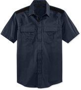 Sean John Men's Solid Twill Short-Sleeve Big & Tall Shirt