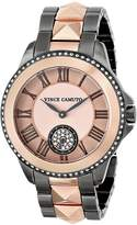 Vince Camuto Women's VC/5049RGTT Swarovski Crystal Accented Black Ion-Plated and Rose -Tone Bracelet Watch