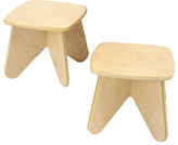 Surfin Kids Stool Set (2 per box) - Natural