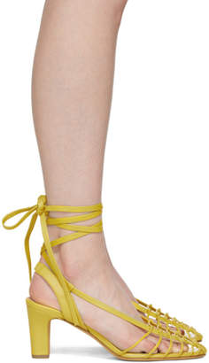 Maryam Nassir Zadeh Yellow Maribel Strappy Sandals
