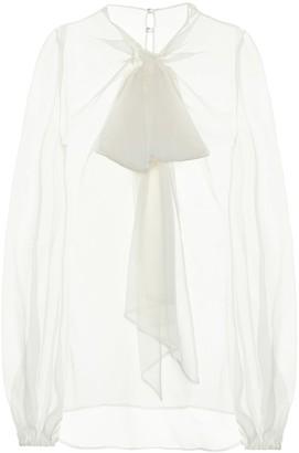Valentino silk chiffon blouse
