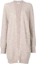 Closed longline open front cardigan - women - Nylon/Spandex/Elastane/Alpaca - S
