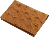 Ostrich Leather Clamshell Wallet