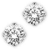 KATARINA 14K White Gold 1/10 ct. Diamond Prong Set Earring Studs