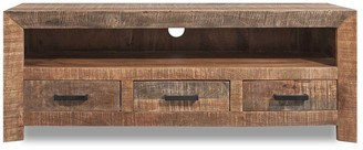 Overstock 3 Drawer of Solid Mango Wood Media Console