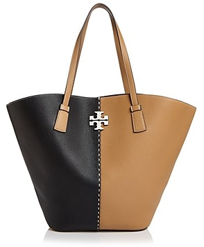 Tory Burch McGraw Color-Block Leather Extra Large Shopper Tote