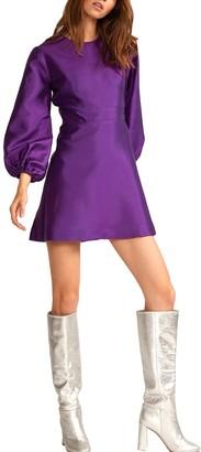 Cynthia Rowley Daphne Flare Silk & Wool-Blend Dress