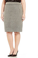 Kasper Plus Tweed Straight Skirt