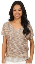 KUT from the Kloth Maddy V-Neck Short Dolman Top Hi-Low