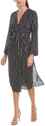 Rosewater Remi Tie-Hem Midi Dress