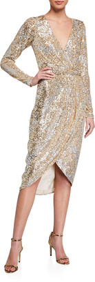Parker Black Opal Sequined Dress