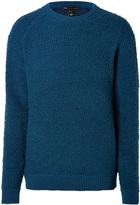 Marc by Marc Jacobs Wool Fleece Pullover in Poseidon