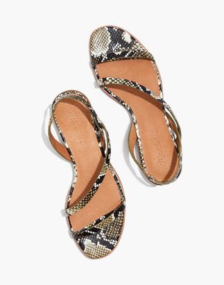 Madewell The Heidi Slingback Sandal in Snake Embossed Leather