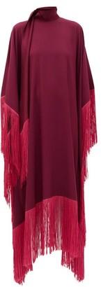 Taller Marmo - Mrs. Ross Fringed Crepe Kaftan - Dark Pink