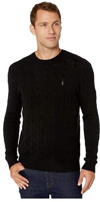 Polo Ralph Lauren Cable Wool-Cashmere Sweater (Polo Black) Men's Clothing