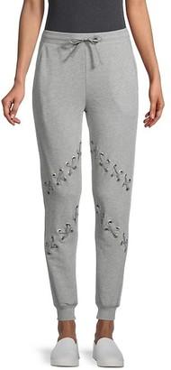 South Parade Lace Cotton-Blend Sweatpants