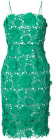 Milly fitted floral detail dress - women - Silk/Polyester - 4