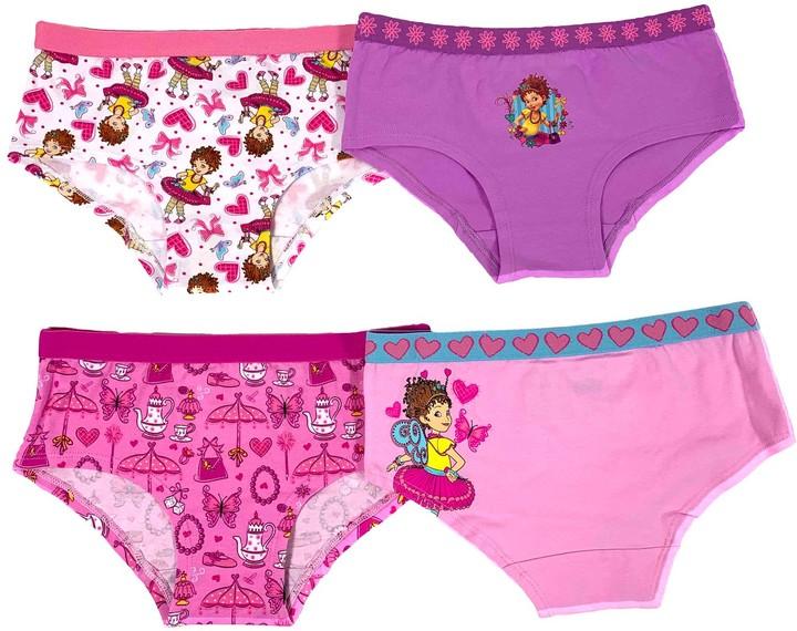 Girls 100/% Cotton Brief Assorted Underwear Sizes from 2-8 yrs Pink Purple White