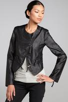 Romeo & Juliet Couture Edgy Faux-Leather Crop-Jacket
