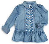 Jessica Simpson Girls 7-16 Embroidered Peplum Blouse
