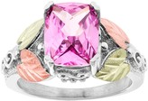 Black Hills Gold Pink Sapphire Ring in Sterling Silver