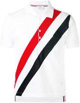 Thom Browne diagonal stripe polo shirt - men - Cotton - 2
