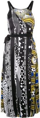 Versus printed wrap dress