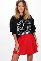 Boohoo Petite Melissa Sports Trim Skater Skirt