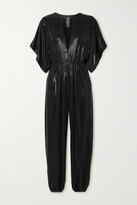 Thumbnail for your product : Norma Kamali Rectangle Stretch-lame Jumpsuit - Black