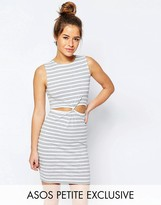 Asos Stripe Mini Dress with Knot Front