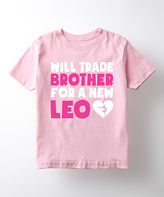 Light Pink 'Will Trade Brother' Tee - Toddler