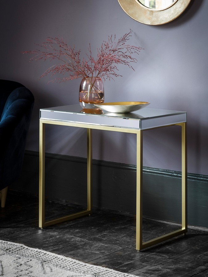 Hudson Living Pippard Side Table - Champagne