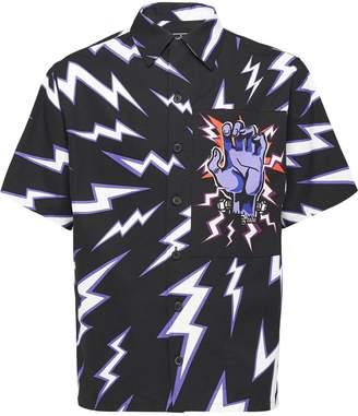 Prada lightning bolt print shirt
