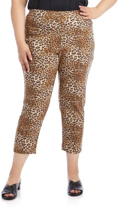 Karen Kane Leopard Print Piper Pants
