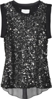 Sequined silk-chiffon blouse
