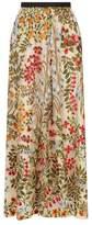 RED Valentino Embroidered Midi Skirt