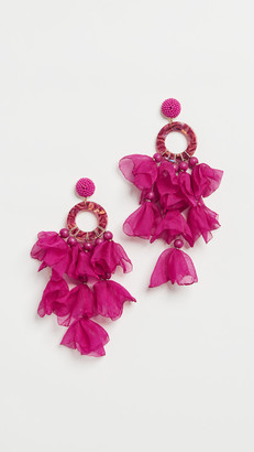Stella + Ruby Fuchsia Oversized Earrings