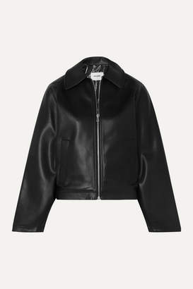 we11done Faux Leather Jacket - Black