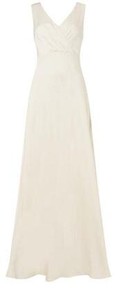 Jill by Jill Stuart V Neck Satin Dress