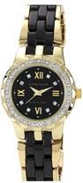 Anne Klein Crystal Bezel Ceramic Bracelet Watch, 29mm