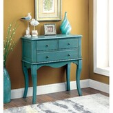 Elara Hallway 3 Drawer Accent Cabinet August Grove Color: Antique Teal