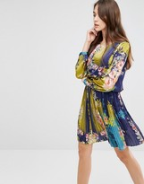 Lavand Bright Floral Skater Dress