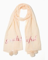 Charming charlie Grateful Pom Scarf
