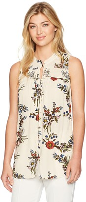 Blu Pepper Women's Floral Print Sleeveless Top