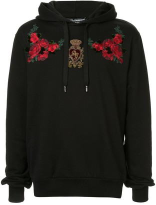 Dolce & Gabbana Floral Patch Hoodie
