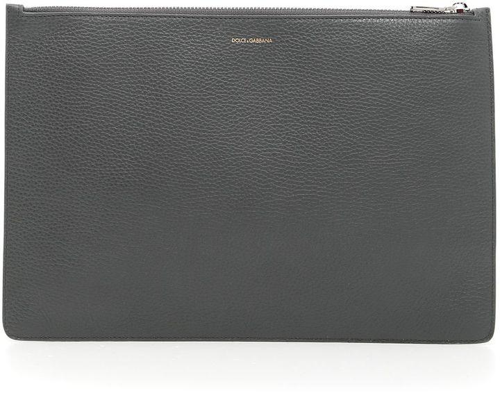 Dolce & Gabbana Textured Calfskin Document Case