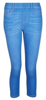 Dorothy Perkins Womens Blue 'Eden' Super Soft Cropped Jeggings, Blue