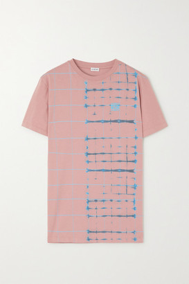 Loewe Embroidered Tie-dyed Cotton-jersey T-shirt - Pink